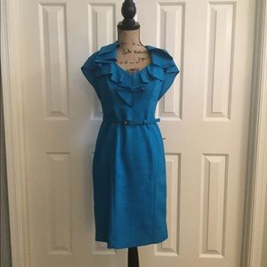 Blue Simple Ruffle Dress Size 4